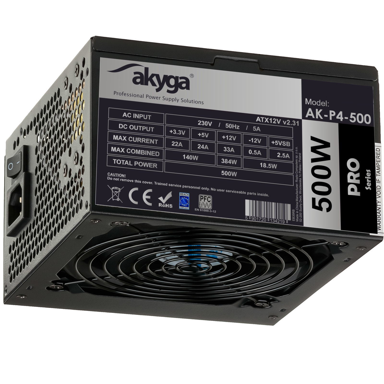 Main image Power Supply semi-modular ATX AK-P4-500 500W