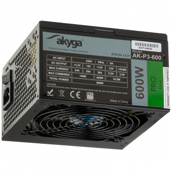 Main image Power Supply ATX AK-P3-600 600W