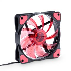 Fan 120mm MOLEX / 3-pin 15 LED red AW-12C-BR